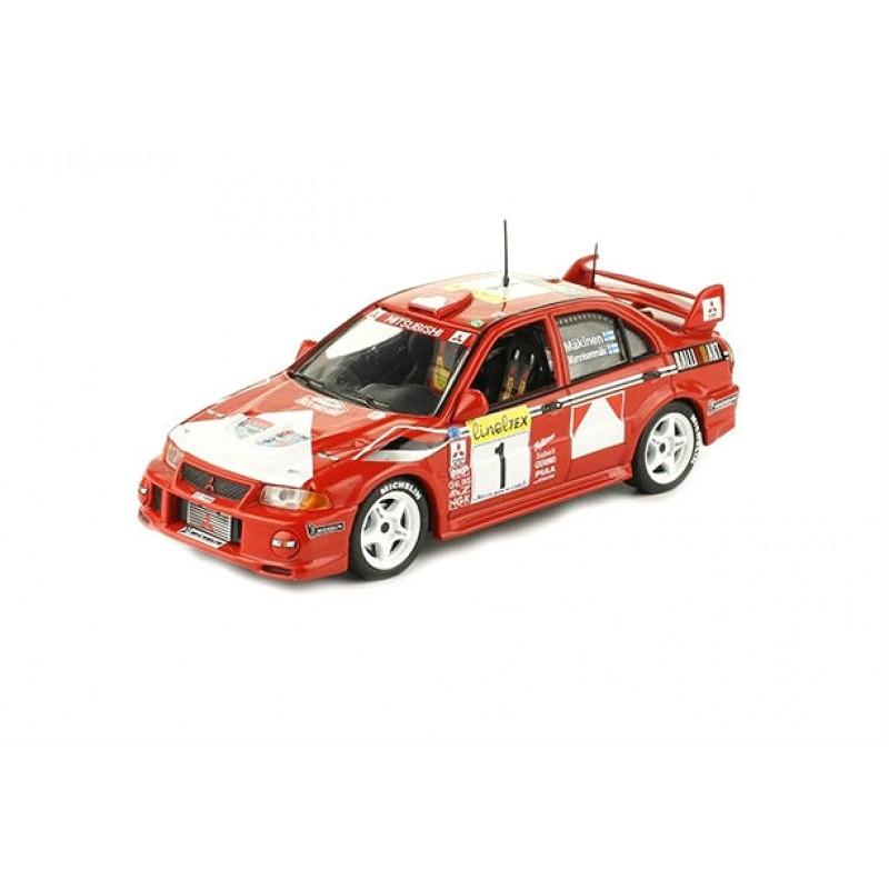 Macheta auto Mitsubishi Lancer evo VI 1999 #31, 1:43 Eaglemoss - Colectia Raliul Monte Carlo