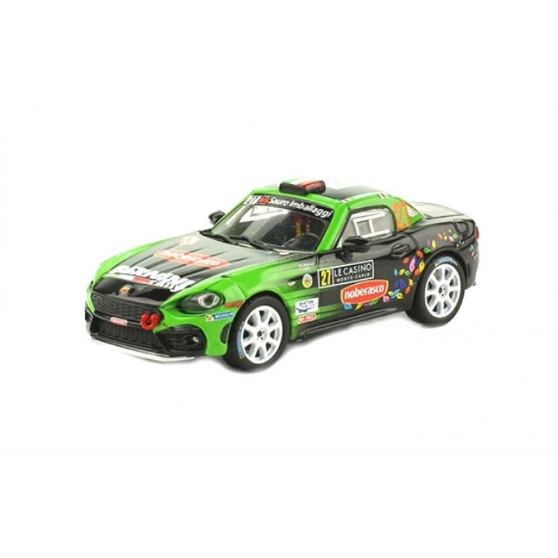 Macheta auto Fiat Abarth 124 Rally RGT 2017 #34, 1:43 Eaglemoss - Colectia Raliul Monte Carlo