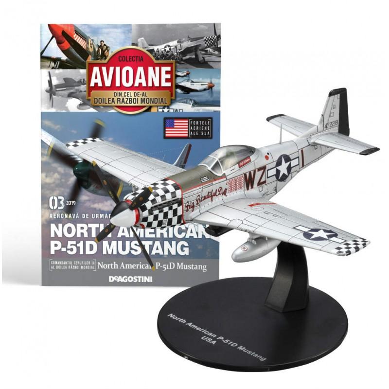 Macheta avion North American P-51D Mustang #03 USA, Deagostini - Colectia Avioane din Cel de-al Doilea Razboi Mondial