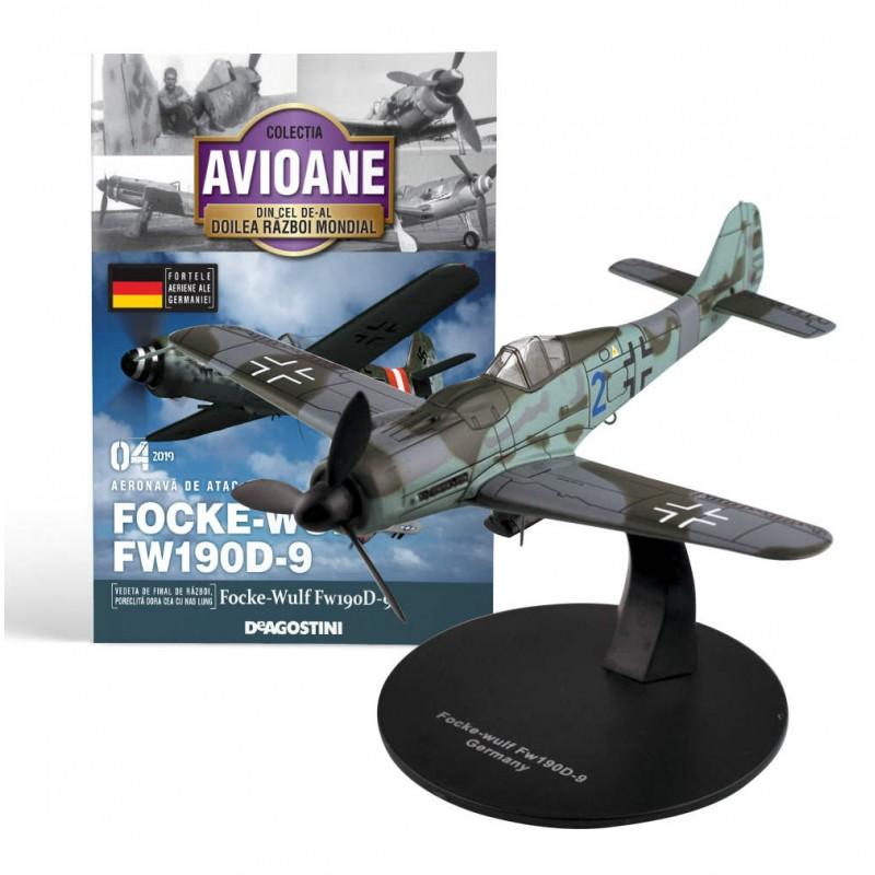 Macheta avion Focke Wulf FW90D-9  #04 Germania, Deagostini - Colectia Avioane din Cel de-al Doilea Razboi Mondial
