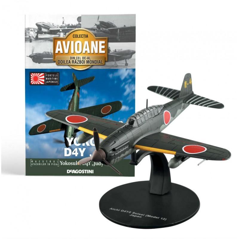 Macheta avion Yokosuda D4Y Judy  #09 Japonia, Deagostini - Colectia Avioane din Cel de-al Doilea Razboi Mondial