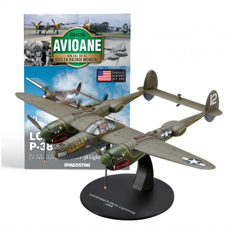 Macheta avion Lockheed P-38 Lightning  #10 USA, Deagostini - Colectia Avioane din Cel de-al Doilea Razboi Mondial