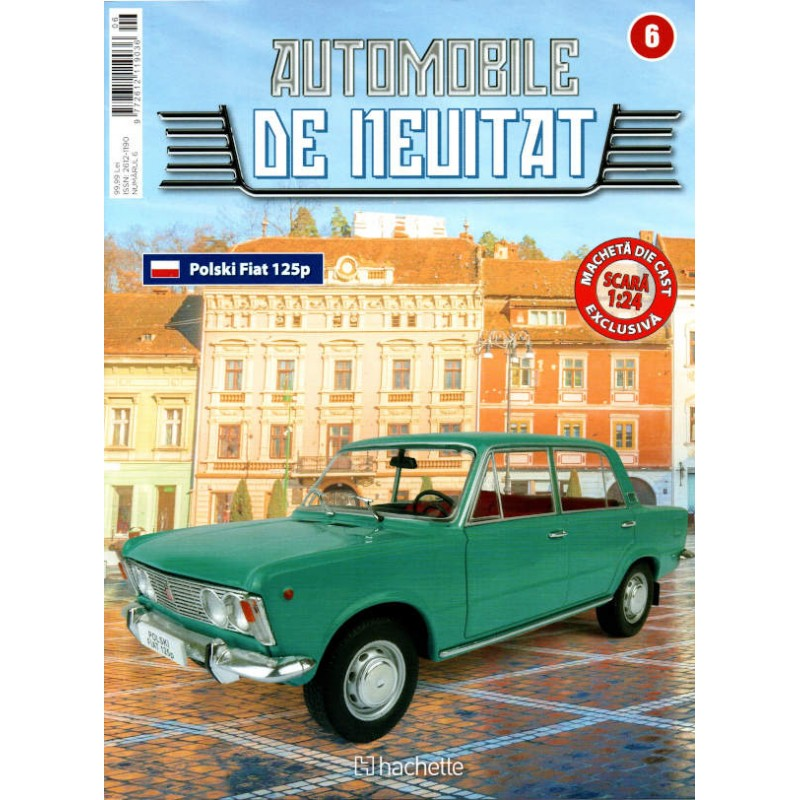 Macheta auto Fiat Polski 1970 Nr 6 - Automobile de neuitat, 1:24 Hachette