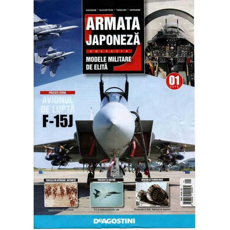 Colectie machete militare Armata Japoneza, avion F 15J, 1:100 Deagostini