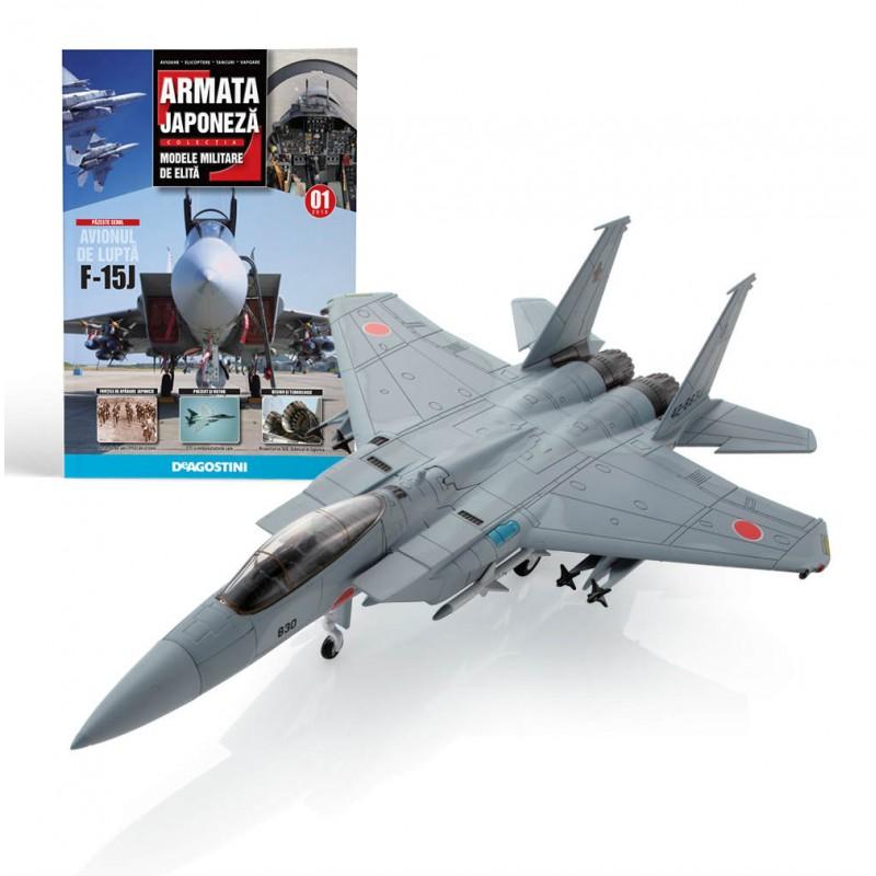Colectie machete militare Armata Japoneza, avion McDonnell F 15J #01, 1:100 Deagostini