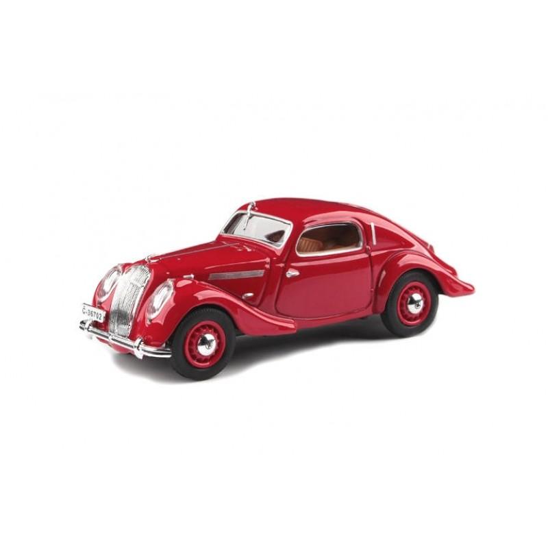 Macheta auto Skoda Popular Sport Monte Carlo 1937 rosu, 1:43 Abrex
