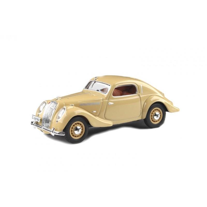 Macheta auto Skoda Popular Sport Monte Carlo 1937 crem, 1:43 Abrex