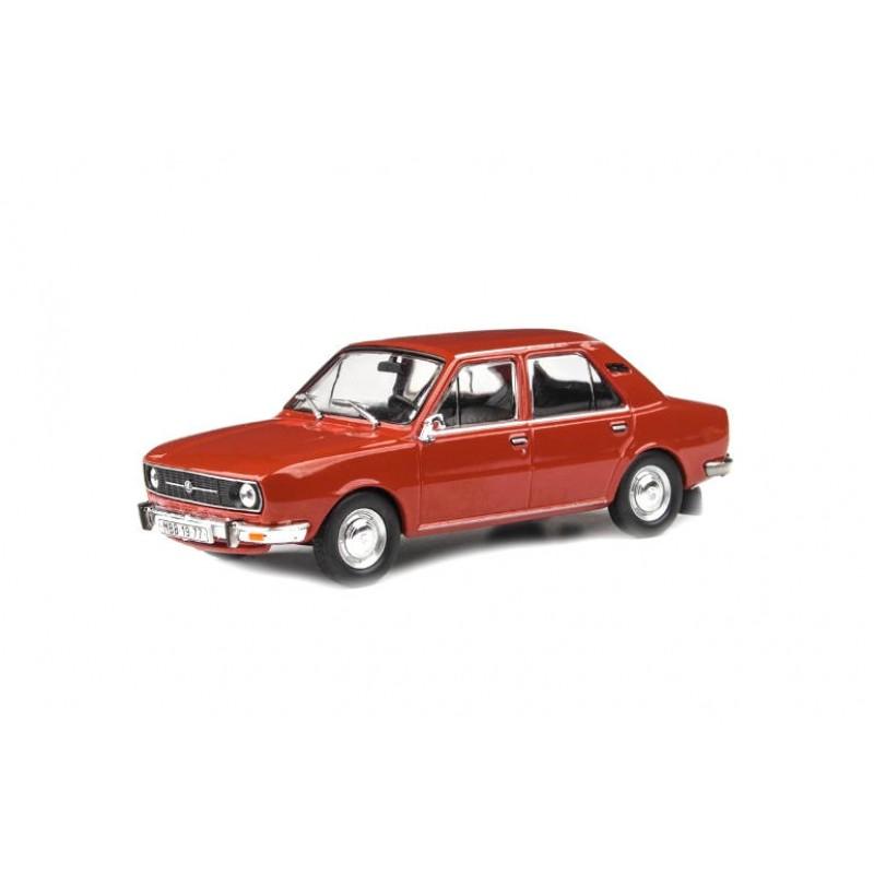 Macheta auto Skoda 105L 1977 rosu paprika, 1:43 Abrex