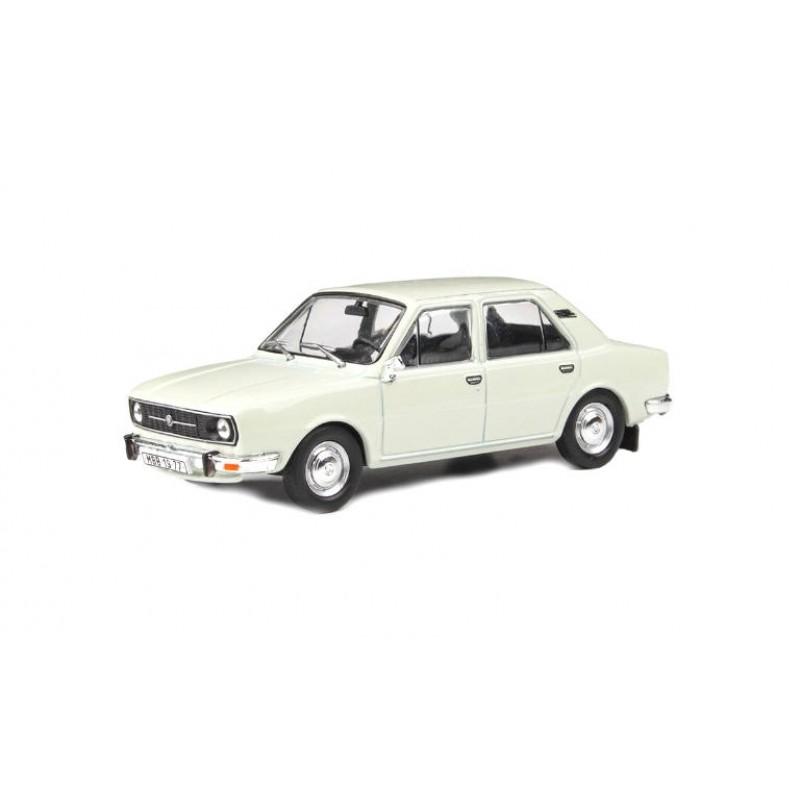 Macheta auto Skoda 105L 1977 alb, 1:43 Abrex