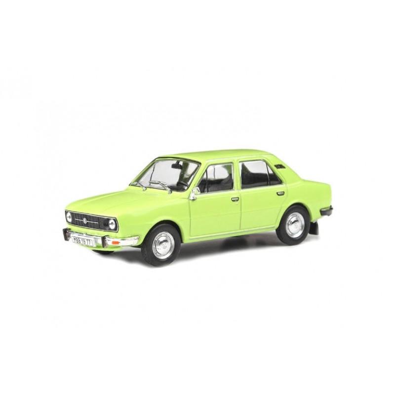 Macheta auto Skoda 105L 1977 verde, 1:43 Abrex