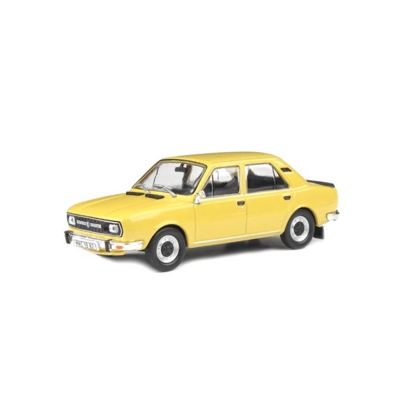 Macheta auto Skoda 120L 1982 galben, 1:43 Abrex