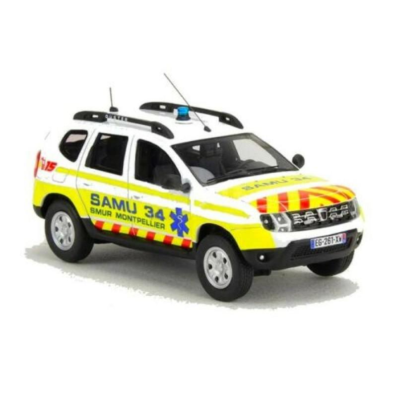 Macheta auto Dacia Duster Ph2 SAMU 34  LE 250 pcs, 1:43 Alarme