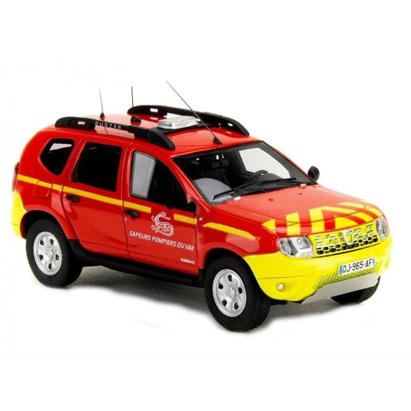 Macheta auto Dacia Duster ph2 POMPIER SDIS 83  LE 350 pcs, 1:43 Alarme
