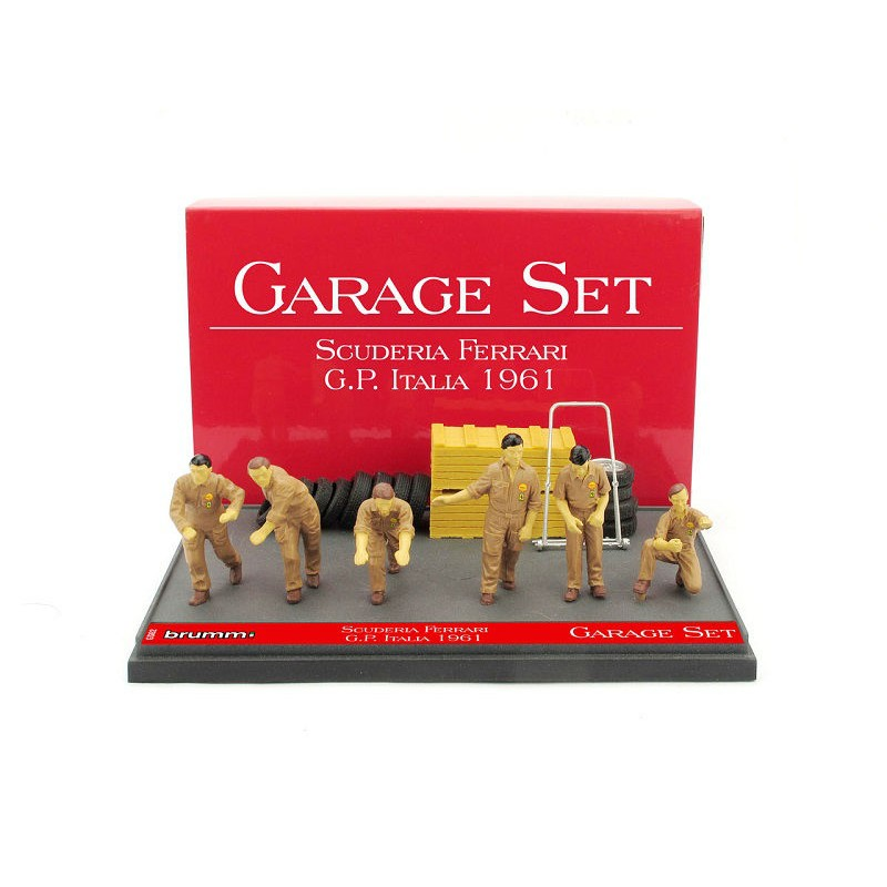 Accesorii: Set Garage Scuderia Ferrari GP Italia '61, 1:43 Brumm