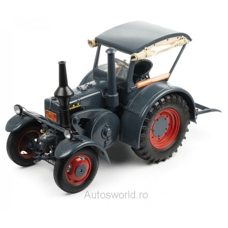 Macheta tractor Lanz Bulldog D8506 cu cabina - gri 1937, 1:8 Premium X