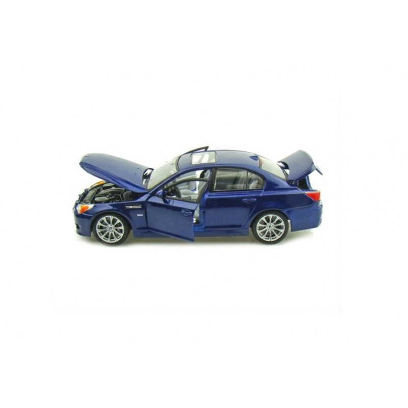 Macheta auto BMW M5 E60 -Special Edition- albastru 2006, 1:18 Maisto
