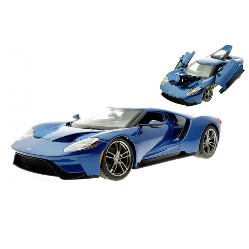 Macheta auto Ford GT albastru 2017, 1:18 Maisto