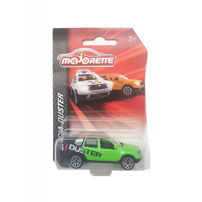 Macheta auto Dacia Duster Rally verde 2015 , 1:64 Majorette