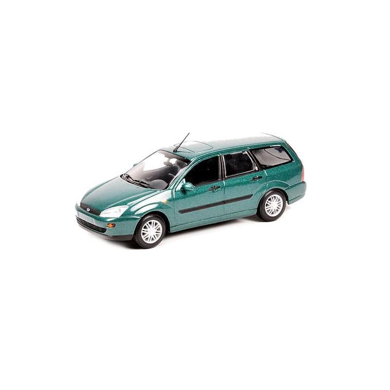 Macheta auto Ford Focus Break 2002 verde, 1:43 Minichamps