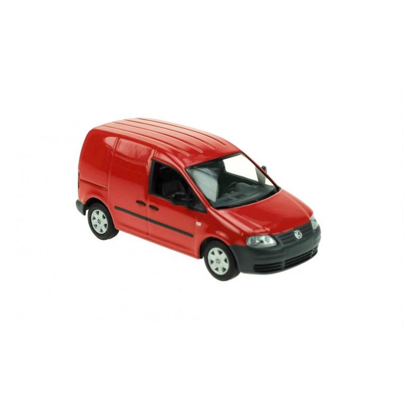 Macheta auto Volkswagen Caddy 2015 rosu, 1:43 Minichamps