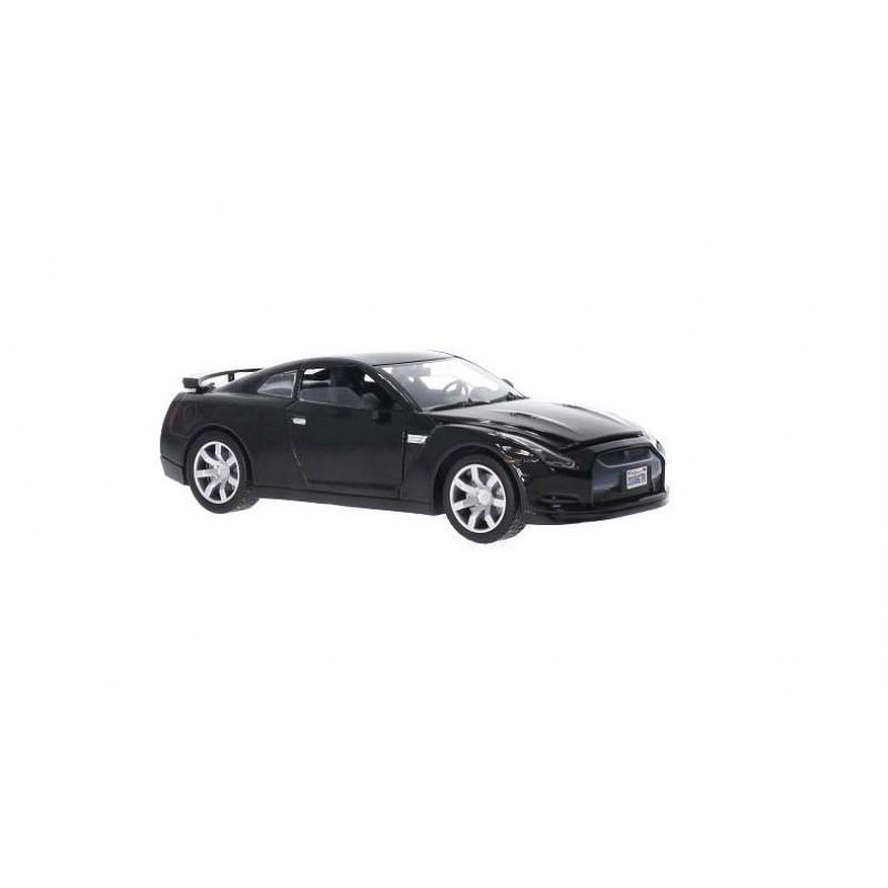 Macheta auto Nissan GT-R R35 negru, 1:24 Motormax