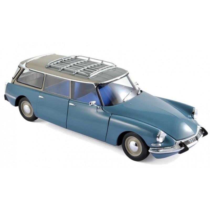 Macheta auto Citroen ID 19 Break 1967 albastru, 1:18 Norev