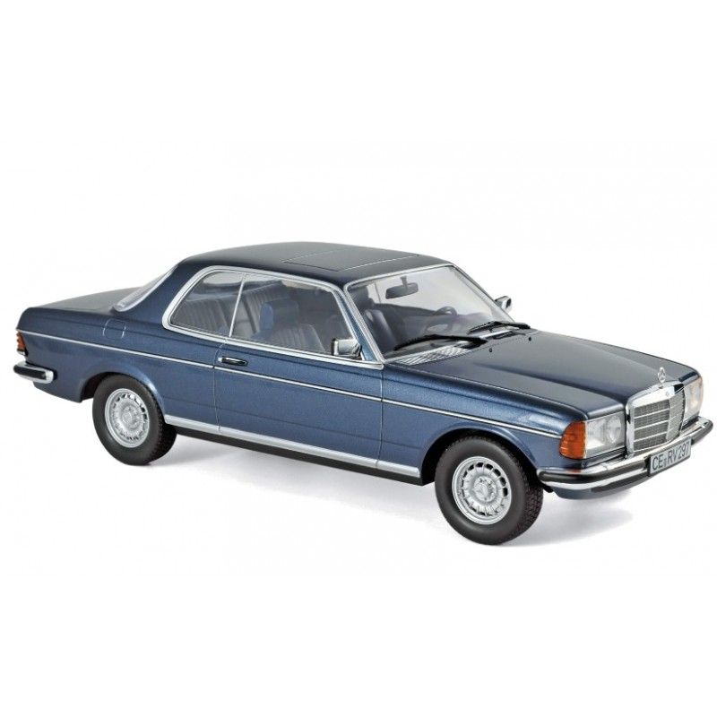 Macheta auto Mercedes-Benz 280 CE 1980 albastru-interior albastru, 1:18 Norev