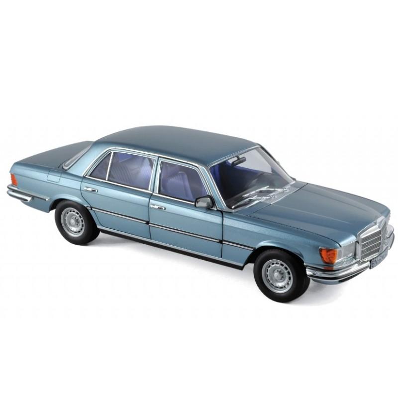 Macheta auto Mercedes-Benz 450 SEL 6.9 1976 albastru metalizat, 1:18 Norev