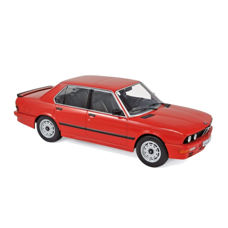 Macheta auto BMW M535i 1986 rosu, 1:18 Norev