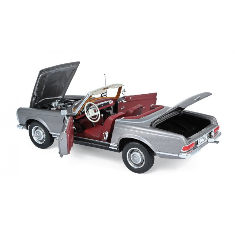 Macheta auto MERCEDES-Benz 230 SL gri (1963), 1:18 Norev