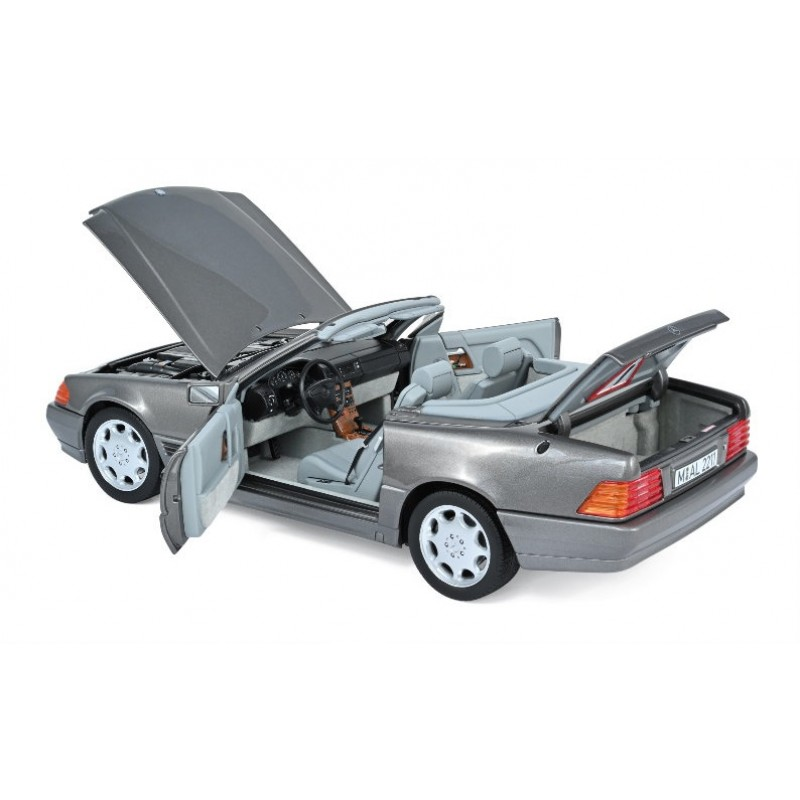 Macheta auto MERCEDES-Benz 500 SL gri (1989), 1:18 Norev