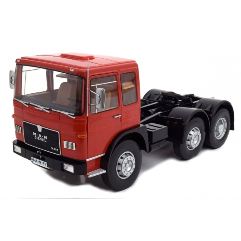 Macheta Camion MAN F7 16.304 rosu 1968 , 1:18 Road Kings