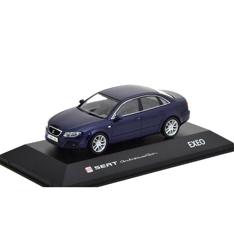 Macheta auto Seat Exeo albastru 2008, 1:43 Fischer – dealer model