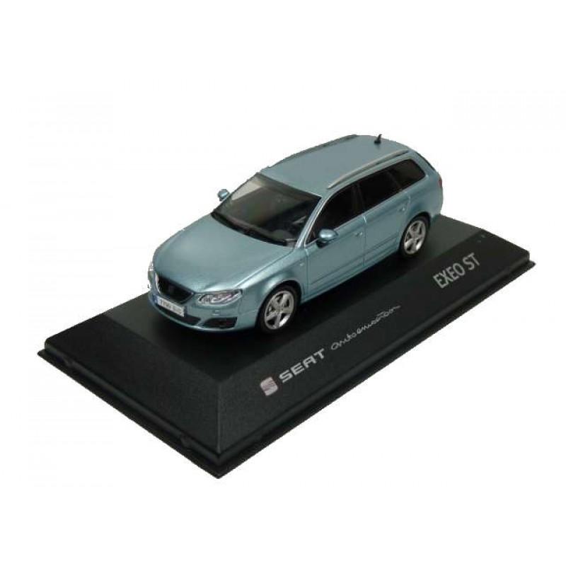 Macheta auto Seat Exeo ST albastru 2009, 1:43 Fischer – dealer model