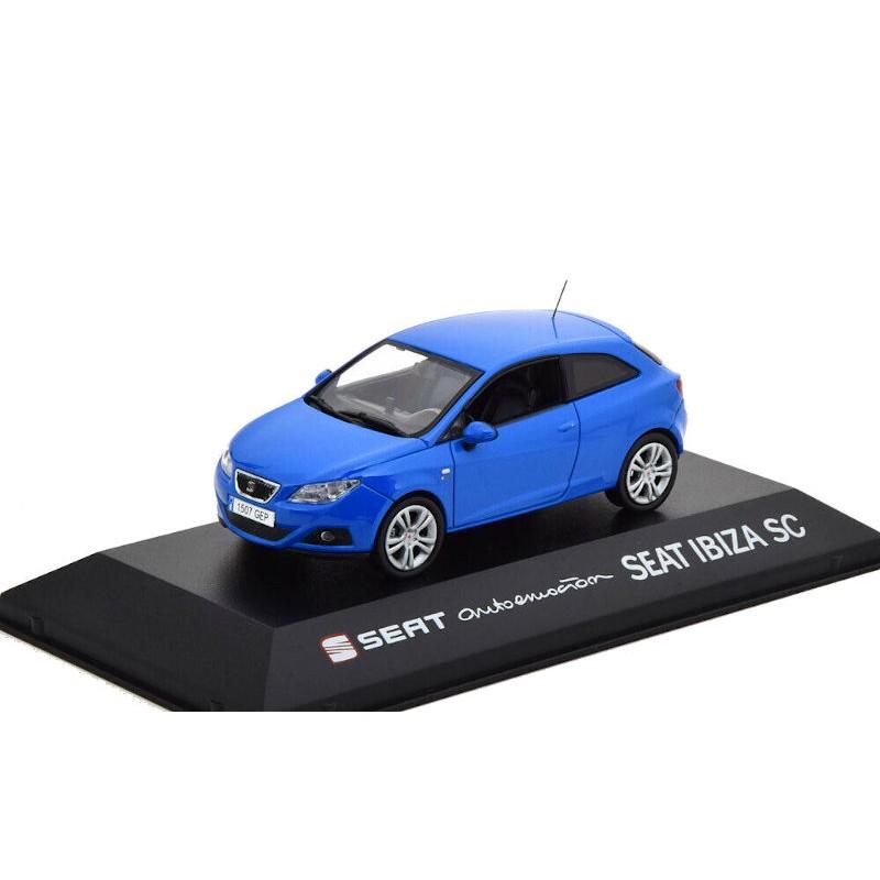 Macheta auto Seat Ibiza SC albastru 2013, 1:43 Fischer – dealer model