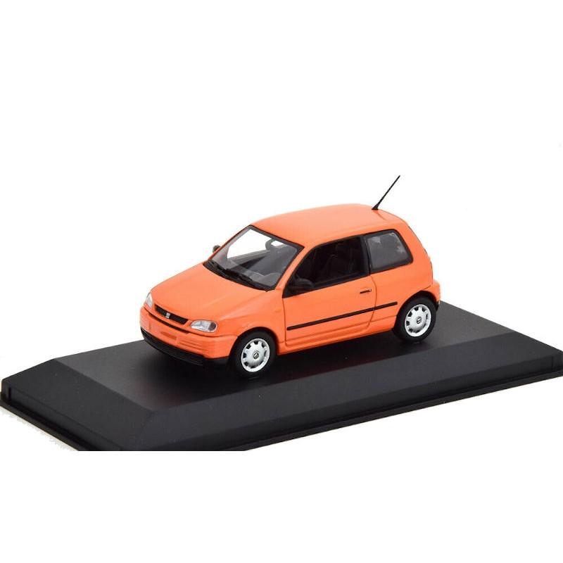 Macheta auto Seat Arosa portocaliu 1997, 1:43 Minichamps – dealer model