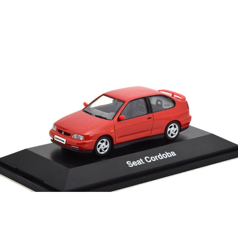 Macheta auto Seat Cordoba rosu 1996, 1:43 Herpa – dealer model