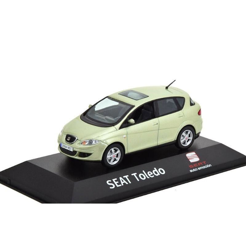 Macheta auto Seat Toledo III verde deschis 2004-2009, 1:43 Fischer – dealer model