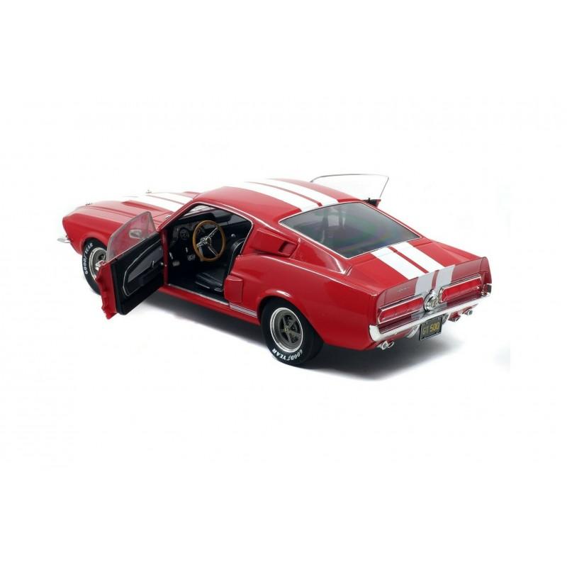 Macheta auto Ford Mustang Shelby GT500 rosu 1967, 1:18 Solido