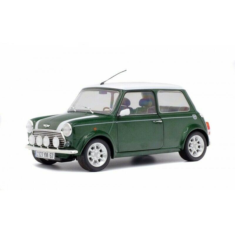 Macheta auto Mini Cooper Sport verde 1997, 1:18 Solido