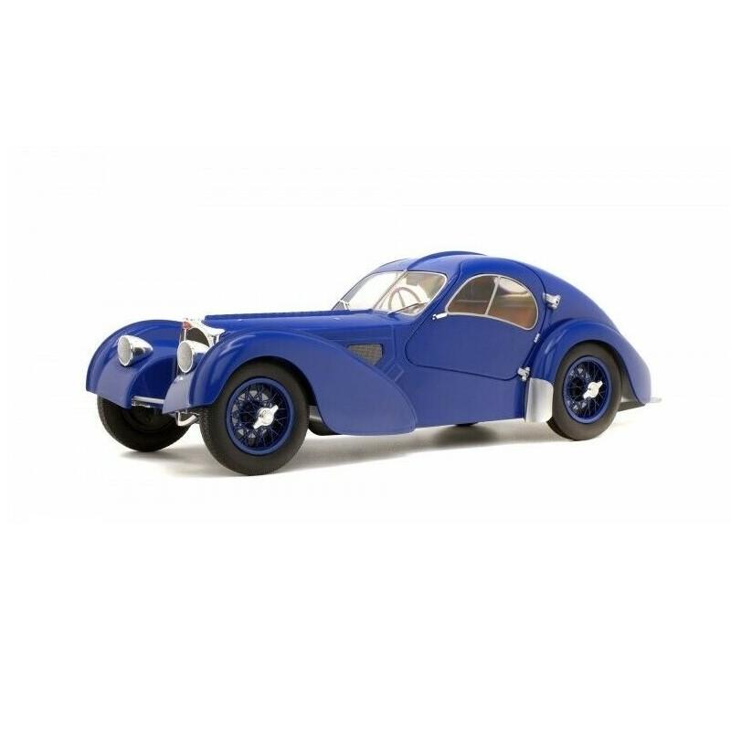 Macheta auto Bugatti Atlantic 57SC albastru 1937, 1:18 Solido