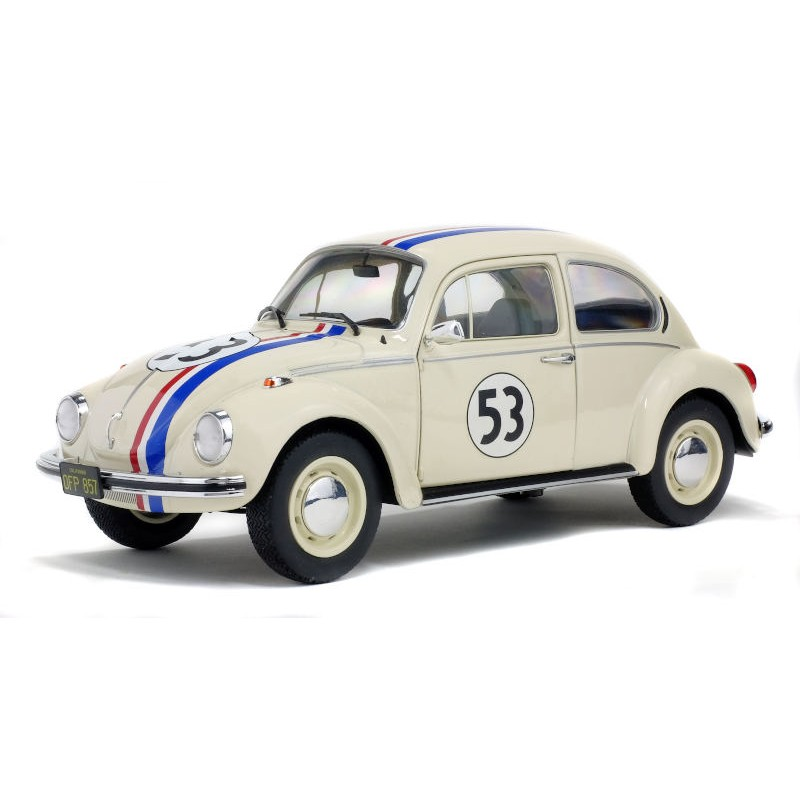 """Macheta auto Volkswagen Beetle 1303 """"Racer 53"""" 1973, 1:18 Solido"""
