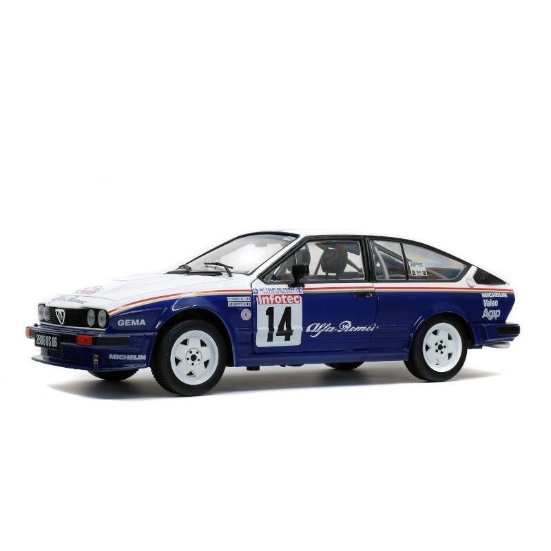 Macheta auto Alfa Romeo GTV6 – Tour de Course 1986, 1:18 Solido
