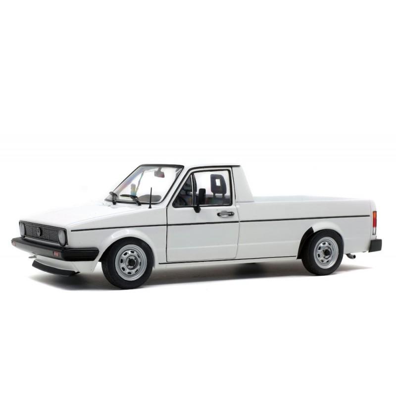 Macheta auto Volkswagen Caddy MK1 pick-up 1982 alb, 1:18 Solido