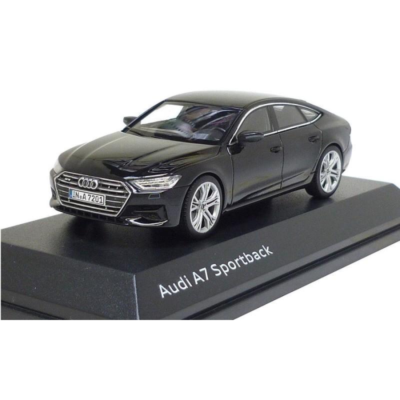 Macheta auto Audi A7 Sportback negru 2018, 1:43 Spark Dealer edition