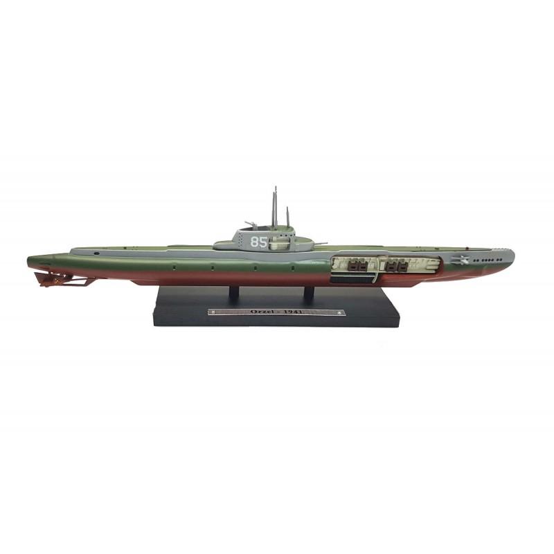Macheta nava submarin Orzel 1941, 1:350 Atlas