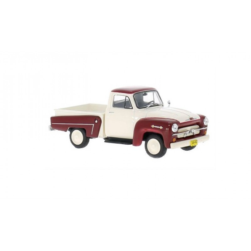 Macheta auto Chevrolet 3100 rosu/alb, 1:43, Whitebox