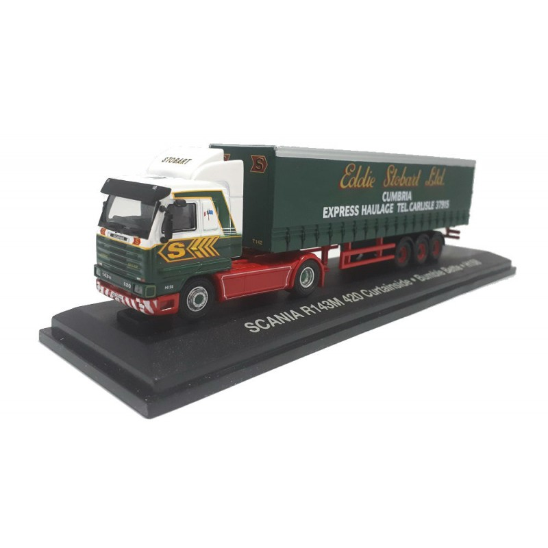 Macheta camion Scania R143M 420 *Bumble Bette Stobart 1:76 Oxford - Atlas
