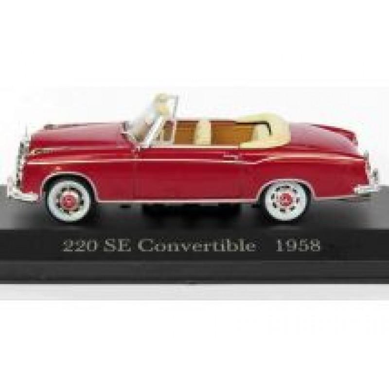 Macheta auto Mercedes Benz 220SE Convertible W128 1958, 1:43 Altaya/Ixo