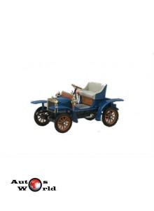 Macheta auto Laurin & Klement Voiturette albastru, 1:43 Abrex